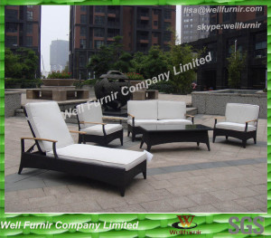 Modern 5pcs PE Rattan Sofa set for Meeting Room With Alum Frame WF-0785.1