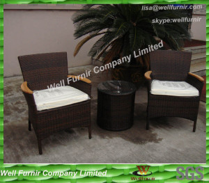 Water Proof 3pcs Wicker Conversation Set , PE Rattan Funiture WF-0789