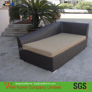 Hand-waved Rattan Sun Loungers With Washable Cushion WF-0797