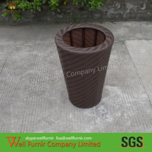 Hand-Woven Cane Flower Pot For Poolside /Living Room WF-0898.1