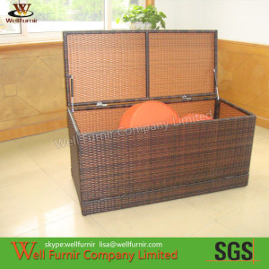 Brown KD Wicker Storage Boxes For Living Room WF-0954.2
