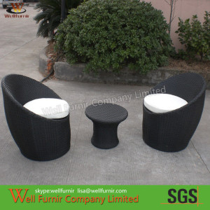3pcs Riverside Stackable Patio Set , Waterproof Wicker Patio Furniture