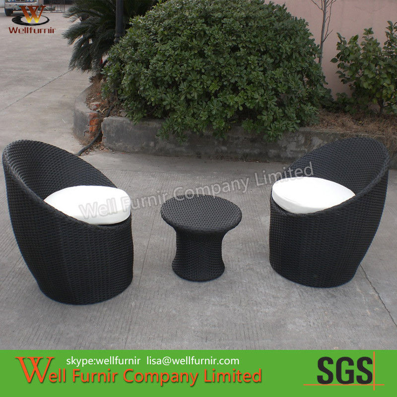 Pl2008101 3pcs Riverside Stackable Patio Set Waterproof Wicker Furniture Description
