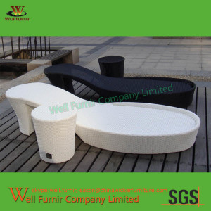 Black-and-White Double Sun Lounger Supplier in ChinaWF-0835(2)