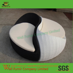 TaiJi Design Modular Wicker Sun Lounger Chairs Double Chaise Lounge WF-0855
