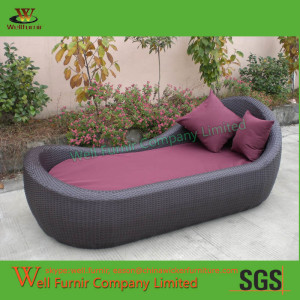 WF-0877 wicker chaise lounge
