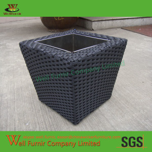 Well Furnir Design Rattan Wicker Plant Flower Pot Garden Furniture WF-0894