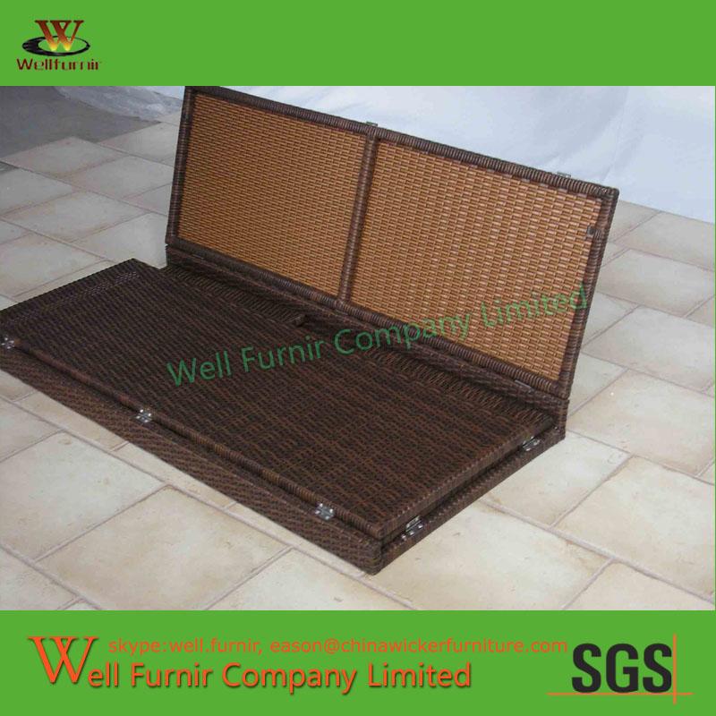 Kd Pe Rattan Storage Bin Deck Box Manufacturer In China Wf