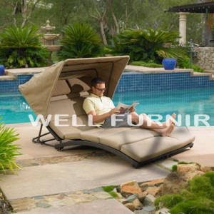 Enjoy Your Outdoor Space with Rattan Wicker Chaise Lounge