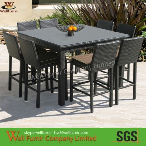 Cube Dining Set, Outdoor Bar Set, Bistro Chair