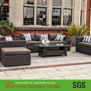 Rattan Sofa Set, Deep Seating, Rattan Garden Furniture Supply