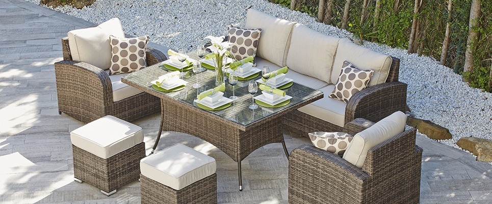 Outdoor Sofa Dining Set Contempo 5 Piece Lounge Dining Set